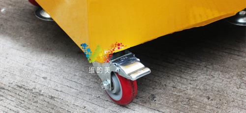 300型太阳能移动四面箭头三灯用的带有刹车的360度的脚轮.jpg